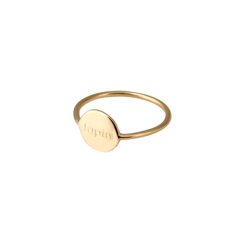 Message Ring 24 Carat Gold Plated - MUDAM STORE