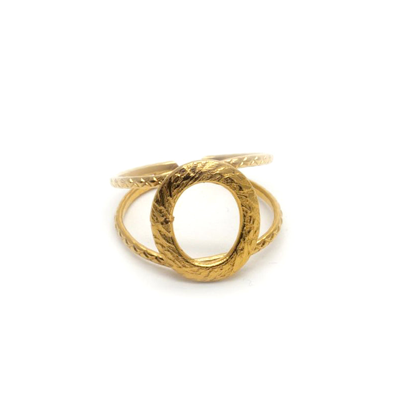 Adjustable Gold Plated 24 k Ring Vic - MUDAM STORE