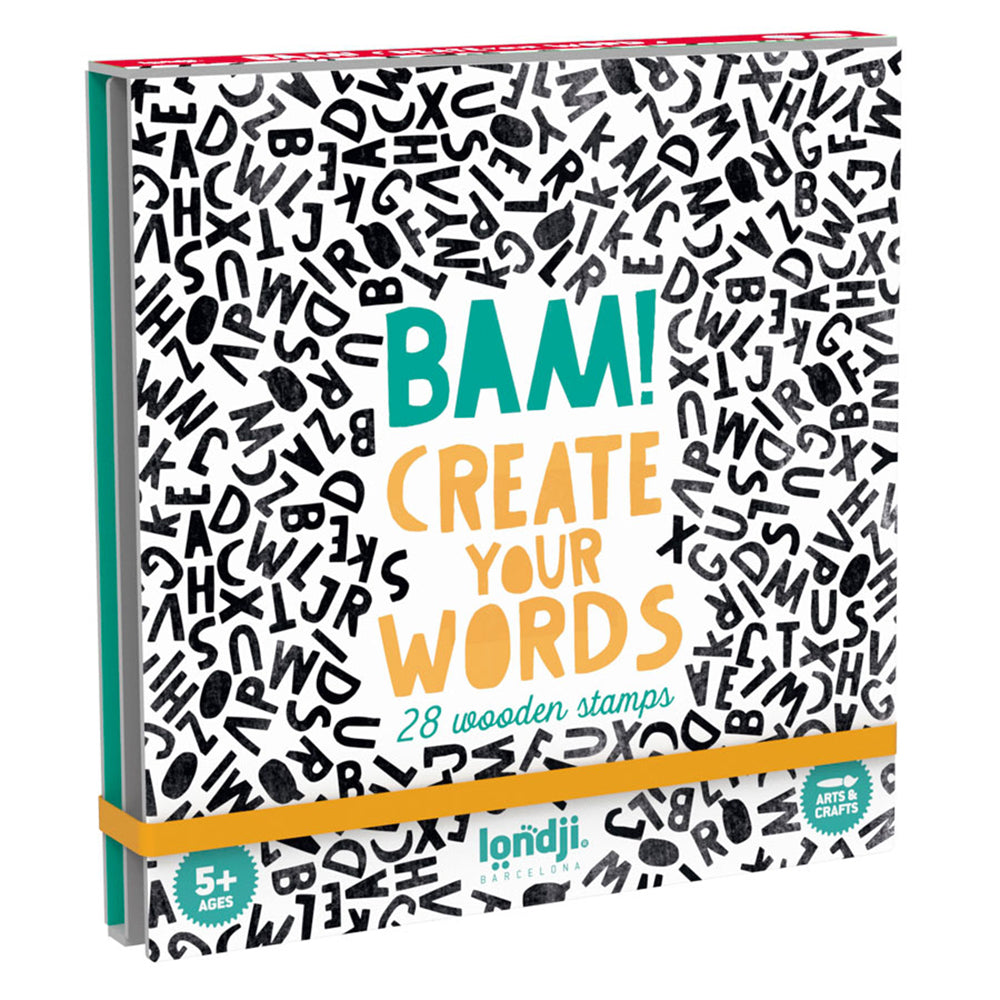 Bam! Words 28 Wooden Alphabet Stamps - MUDAM STORE