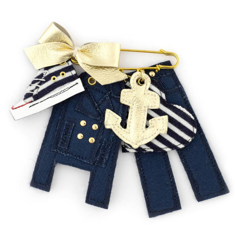 Brooch Sailor Bow Gold