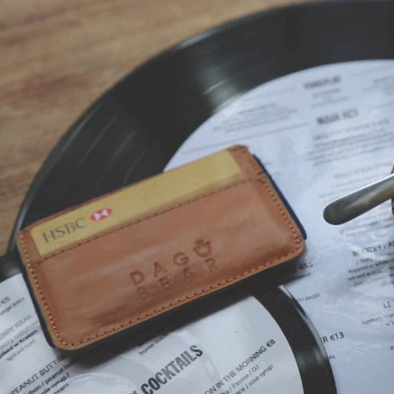 Leather Card Holder With Elastic