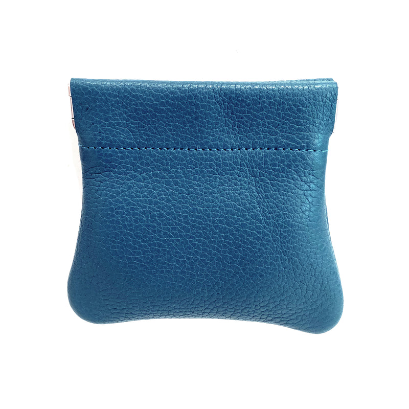 Grained Leather Snap Top Coin Purse
