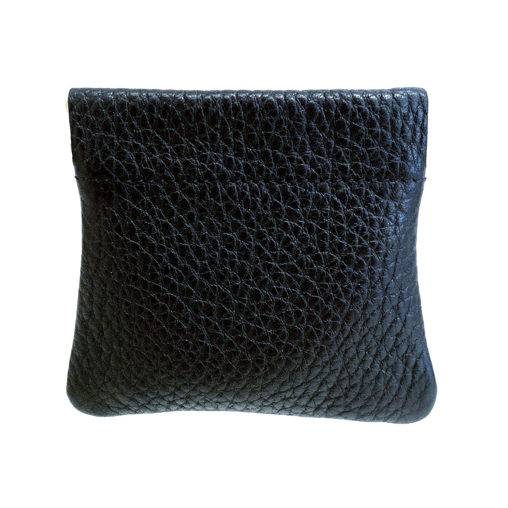 Grained Leather Snap Top Coin Purse - MUDAM STORE