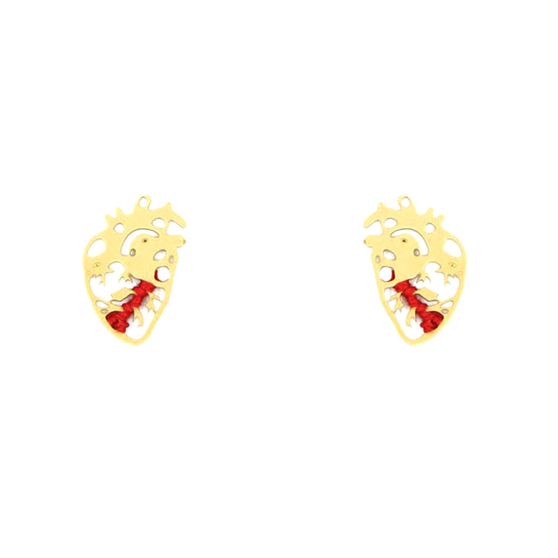 Beating Heart Earrings - Small