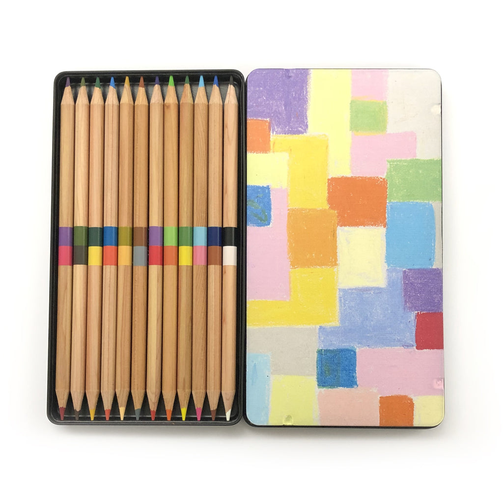 Etel Adnan - Untitled, 2016 24 Natural Cedar Wood Coloured Pencils - MUDAM STORE