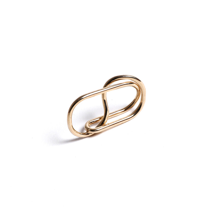 Double Upsylon Reversible Gold Plated Ring