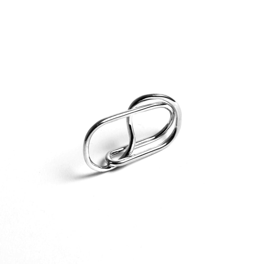 Double 2 Dots Reversible Silver Ring - MUDAM STORE