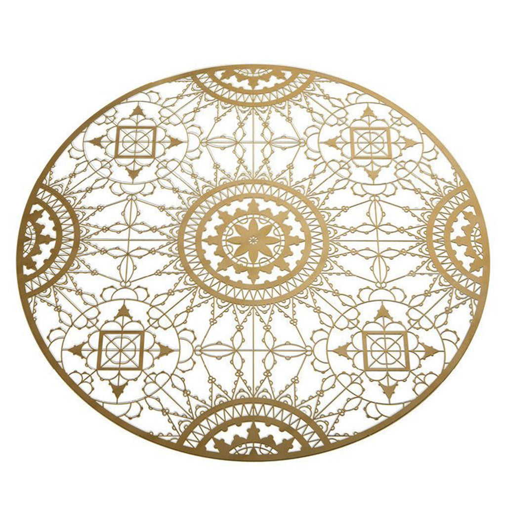 Italic Lace Round Brass Placemat - MUDAM STORE