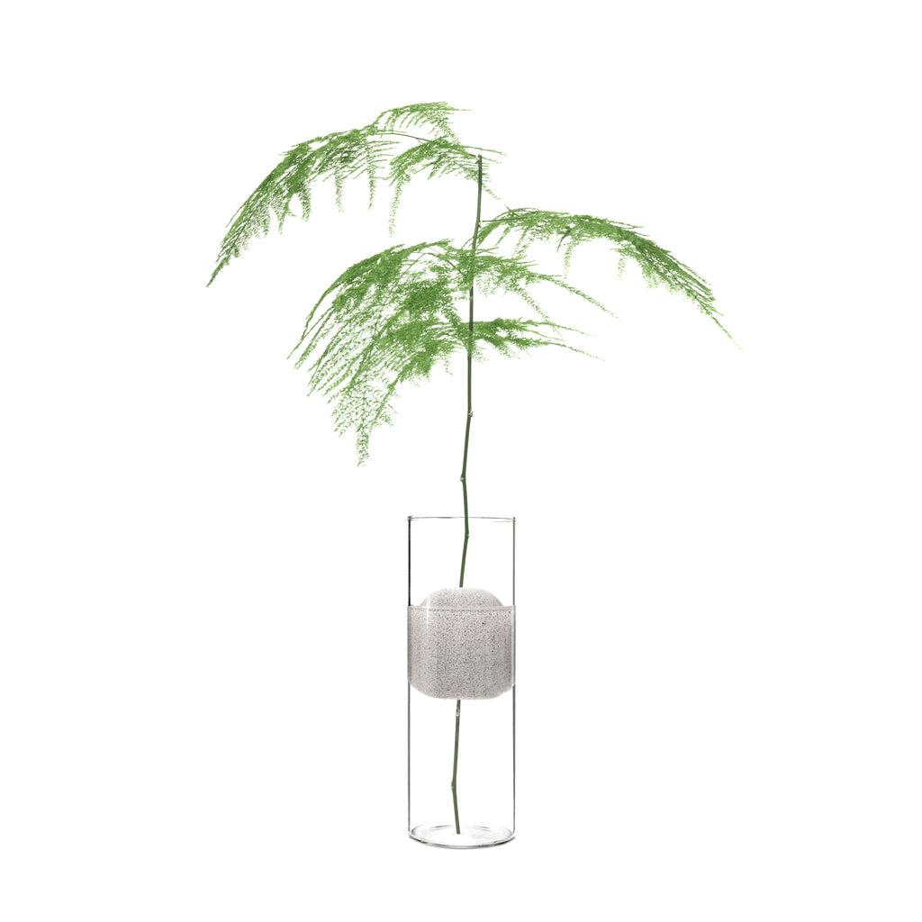 Single Flower Glass Vase Lava - MUDAM STORE