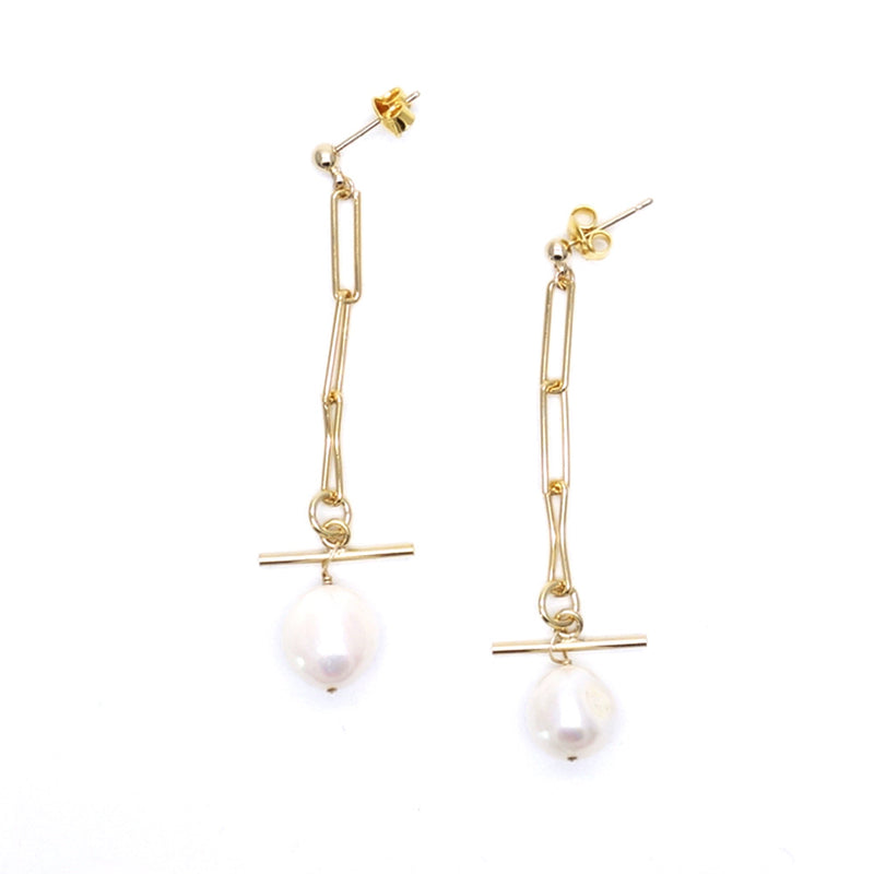 Dangling Cultured Pearls Lisbon Earrings