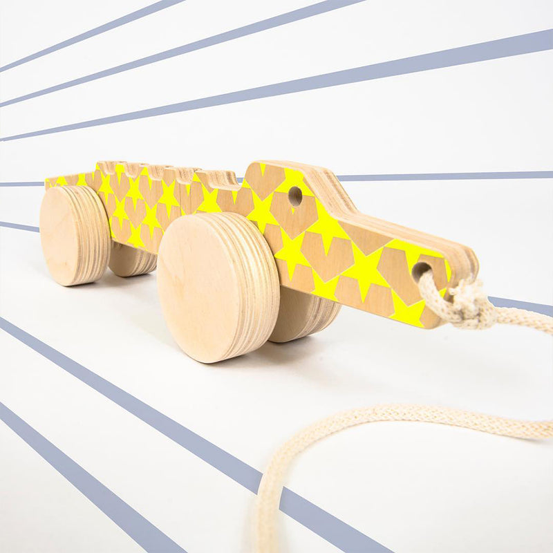 Wooden Design Pull Toy Marcello The Alligator - MUDAM STORE