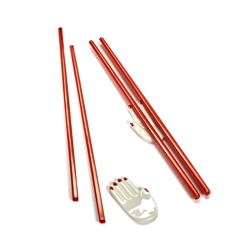 Mains Chopstick Holders & Set of 2 Japanese Chopsticks