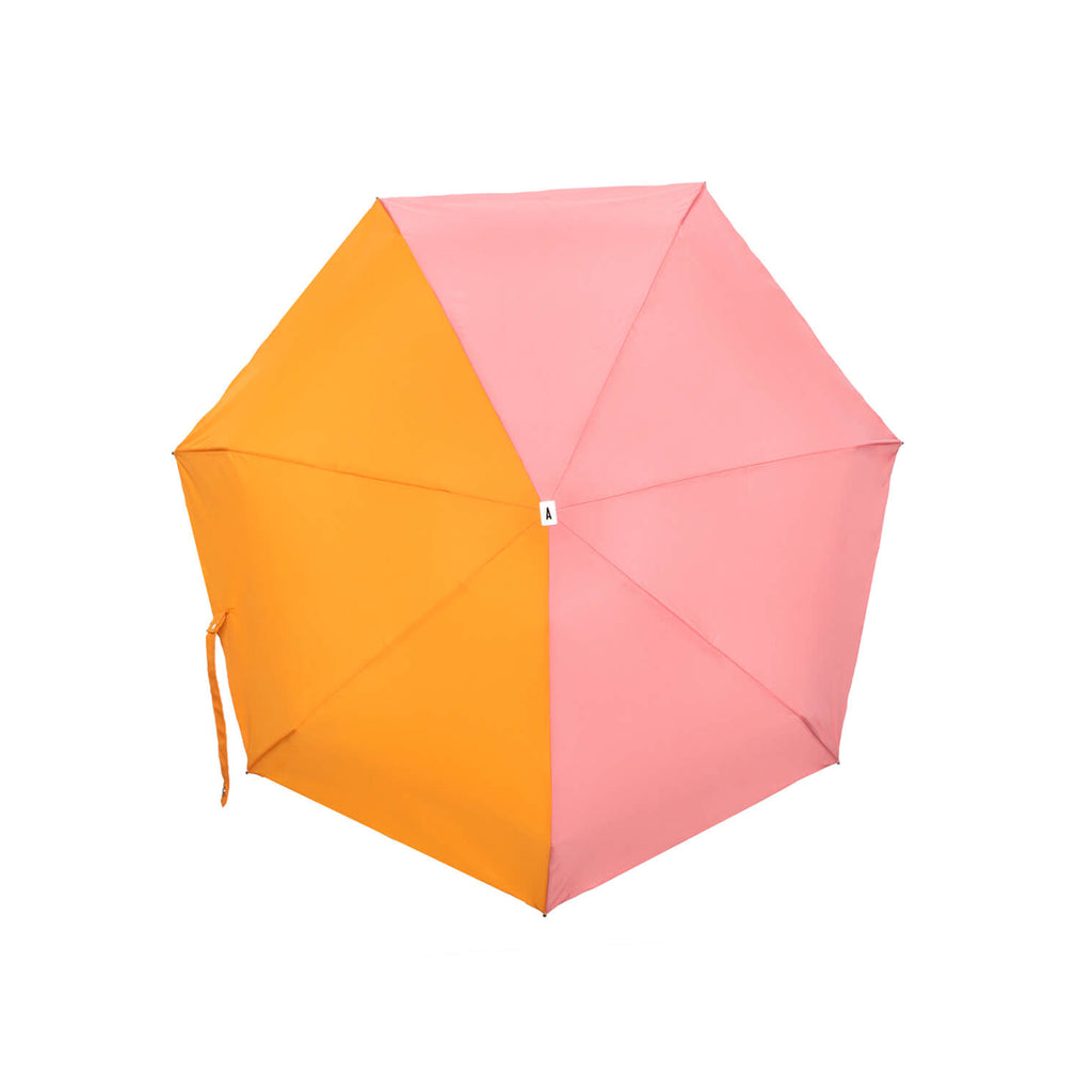 Bicolour Windproof Micro-Umbrella Josephine Pink & Orange - MUDAM STORE