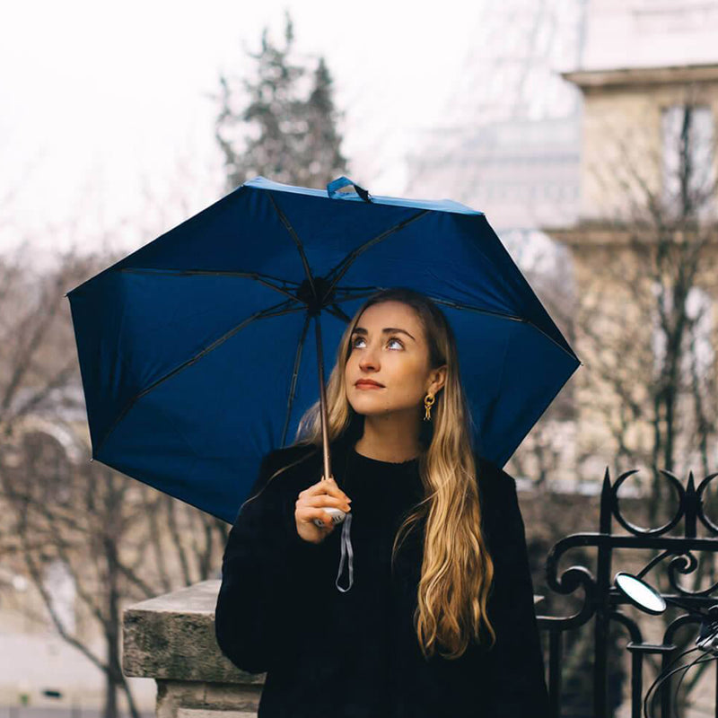 Royal Blue Urban Windproof Micro Travel Umbrella Marguerite