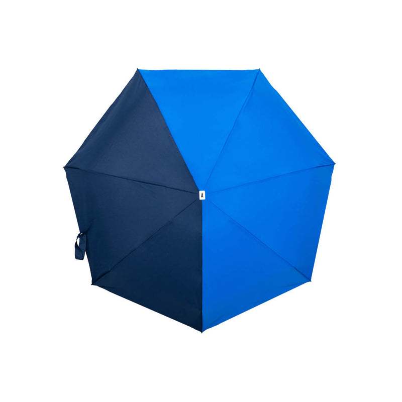 Bicolour Mini Travel Umbrella Lightweight Small Compact Victoire Royal & Navy Blue