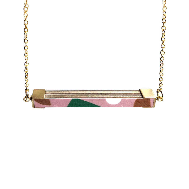 Pattern Rectangle Necklace - MUDAM STORE