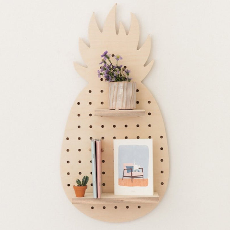 Little Birch Wood Pineapple Pegboard