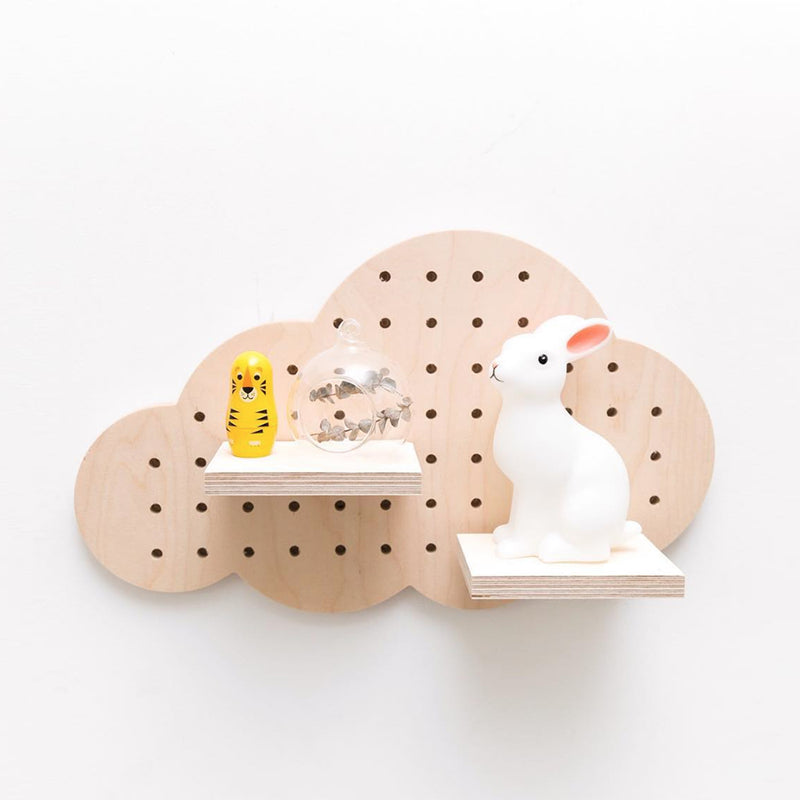 Birch Wood Cloud Pegboard - MUDAM STORE