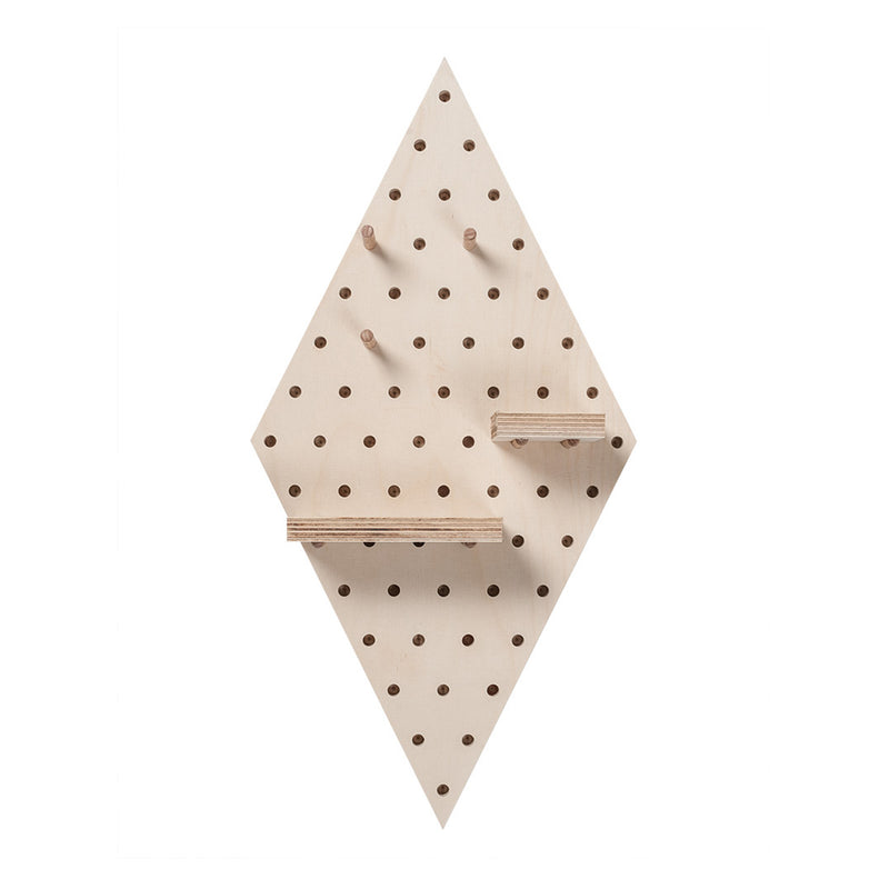 Birch Wood Diamond Pegboard