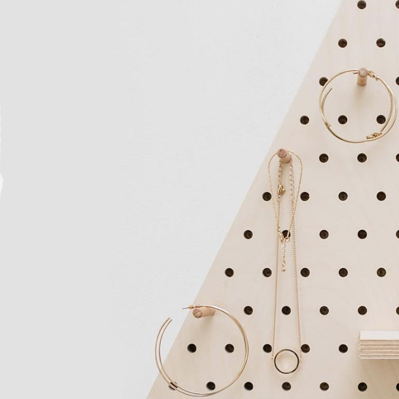 Birch Wood Diamond Pegboard - MUDAM STORE