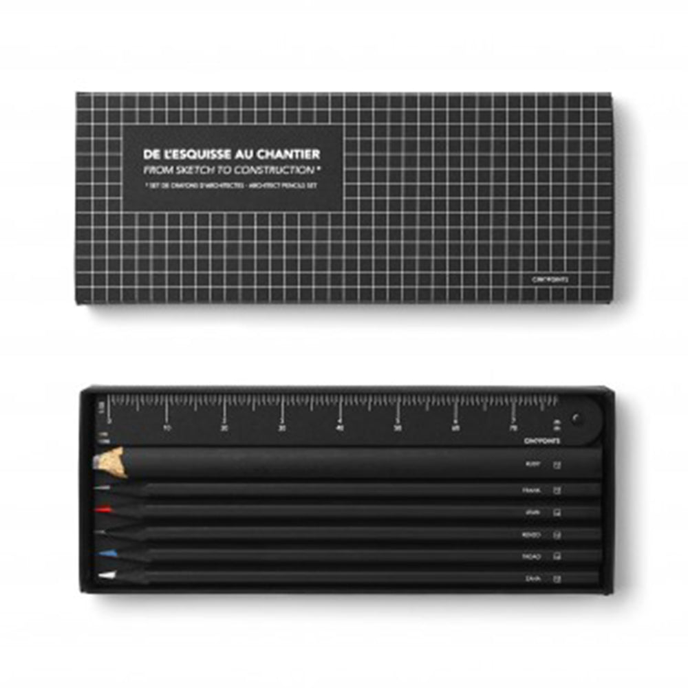 Architect Pencils Set From Sketch To Construction - MUDAM STORE