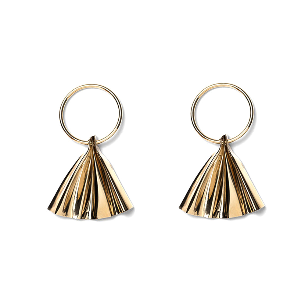 Petula Gold Dangling Earrings - MUDAM STORE