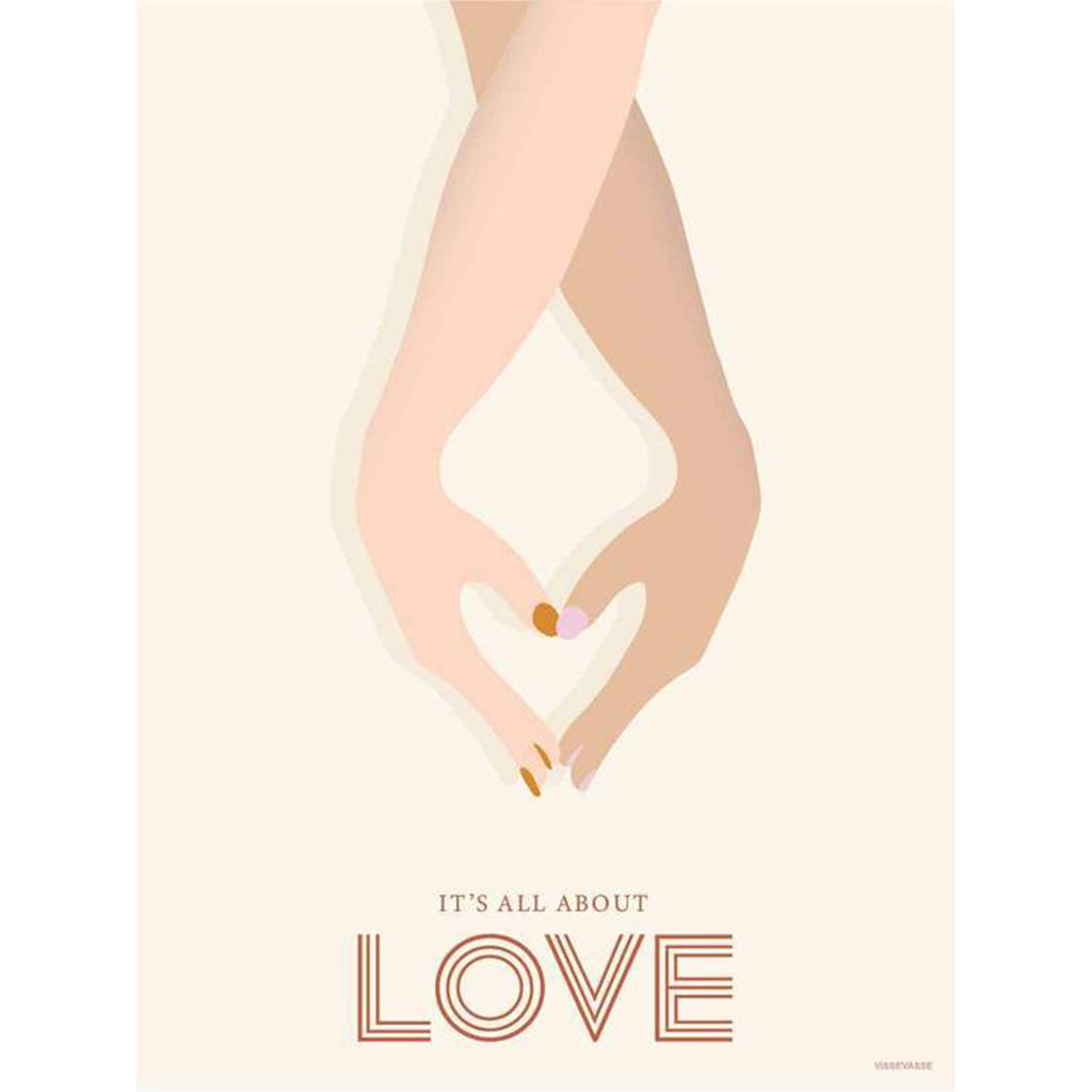 Poster 15 x 21  It's All About Love With Frame - MUDAM STORE