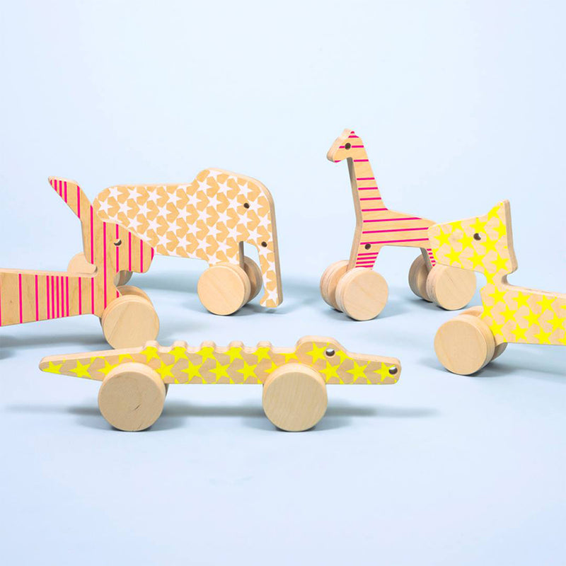 Wooden Design Pull-Toy Rick The Rabbit - MUDAM STORE