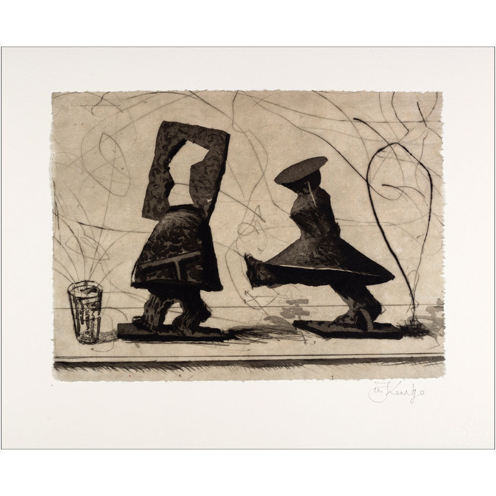 William Kentridge - Lexicon (Parade) Engraving - MUDAM STORE