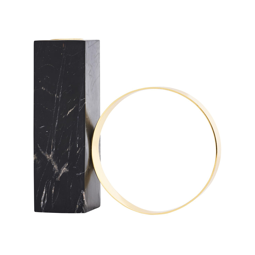 High Tangent Candle Holder In Marble And Metal - MUDAM STORE