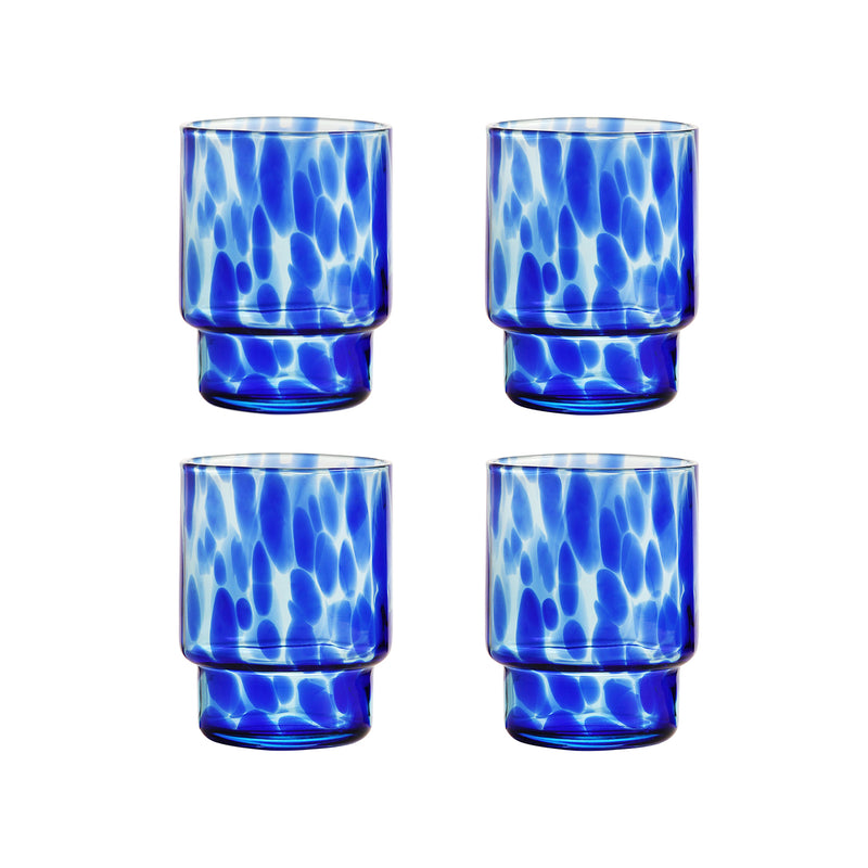 Tortoise Blue Glasses x4