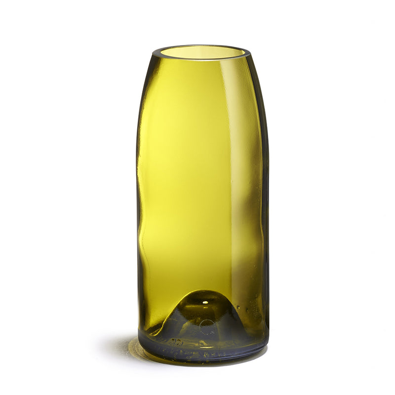 Yellow / Brown Recycled Glass Vase Rire - MUDAM STORE