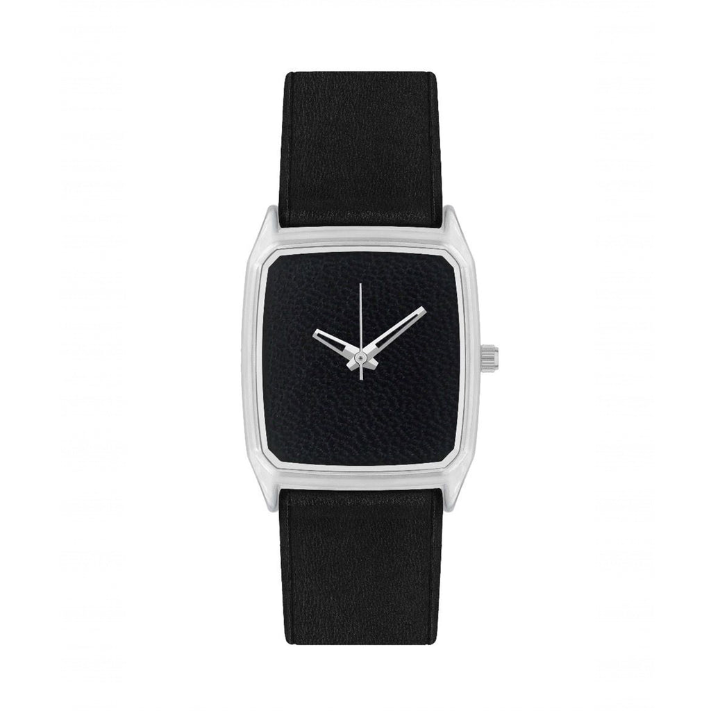 Unisex Perfecto Black Leather Watch - MUDAM STORE
