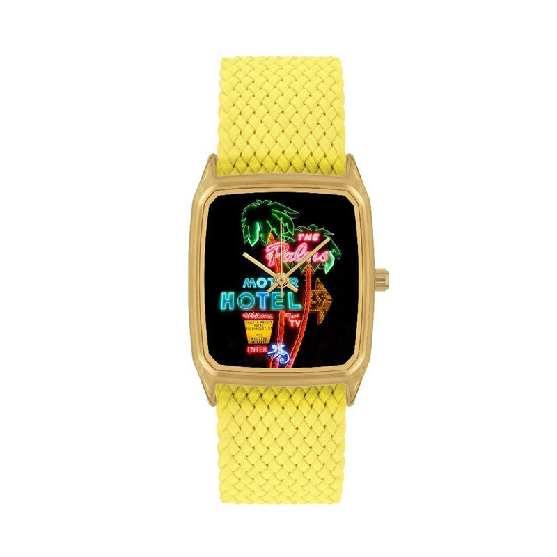 Yellow Braided Perlon Adults Watch The Palms - MUDAM STORE