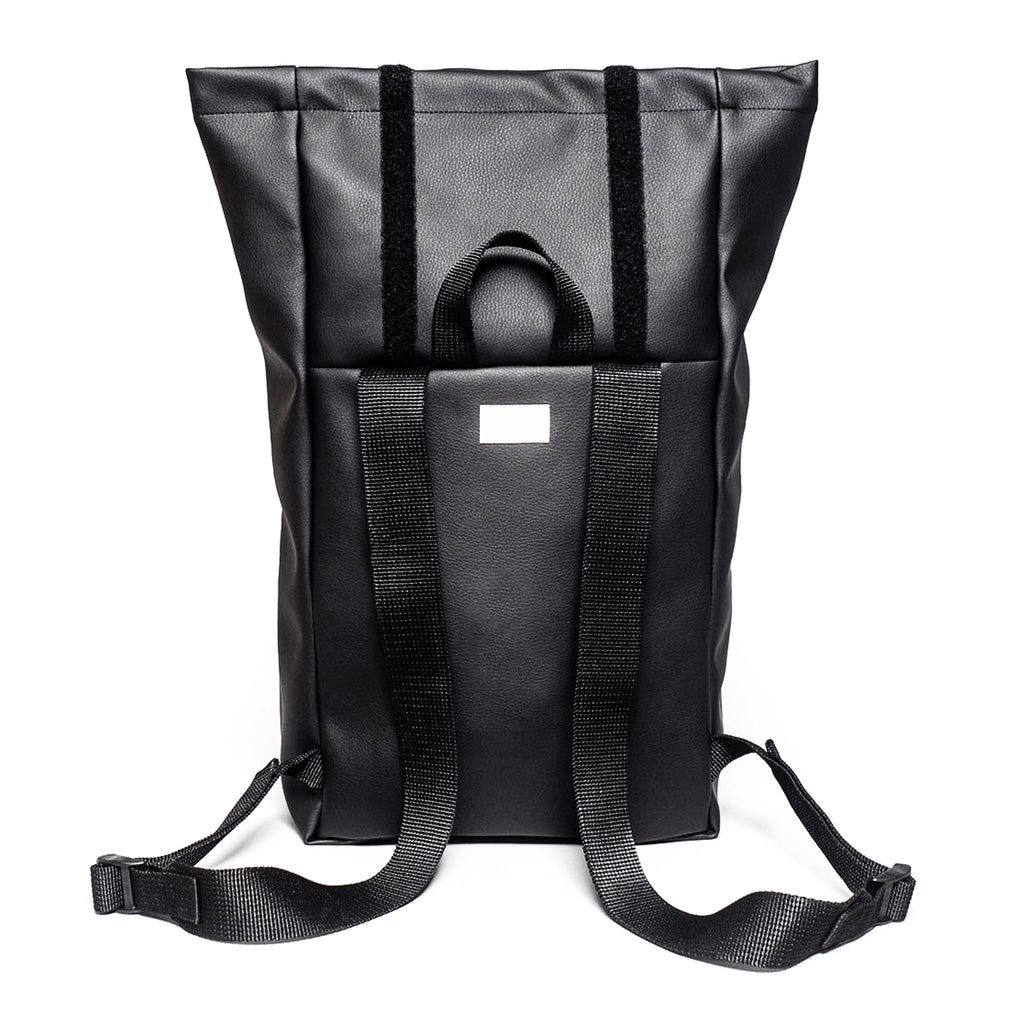 Roll-Top Vegan Leather Backpack - MUDAM STORE