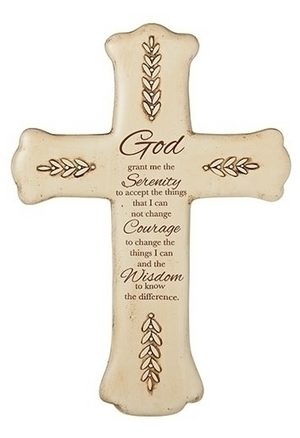 Wall Cross w/Serenity Prayer