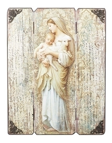 "Panel Wood Decorative Innocence 17""H"