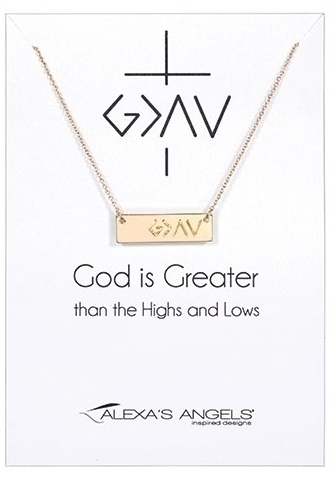 Necklace God Is Greater 16""