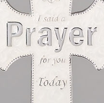 Wall Prayer Cross w/Hanging Ribbon