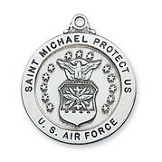 St Michael Military Medal & Chain