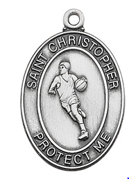 St. Christopher Basketball Medal & Chain