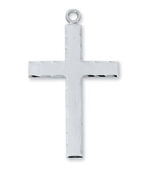 Necklace Sterling Silver Cross w/Lord's Prayer on back
