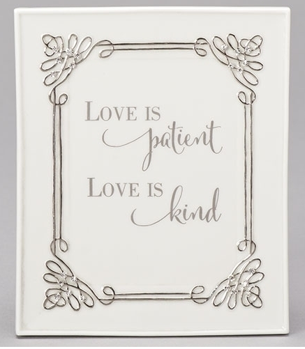 "Wall Plaque ""Love Is Patient"""