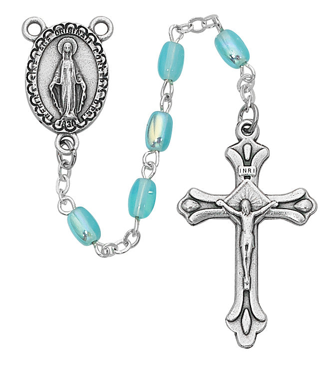 Blue Oval Youth Rosary Boxed