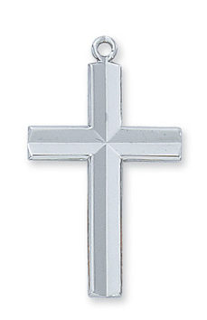 Necklace Cross Engraved Sterling Silver