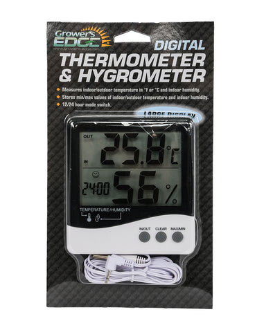 Grower's Edge Thermometer Hygrometer