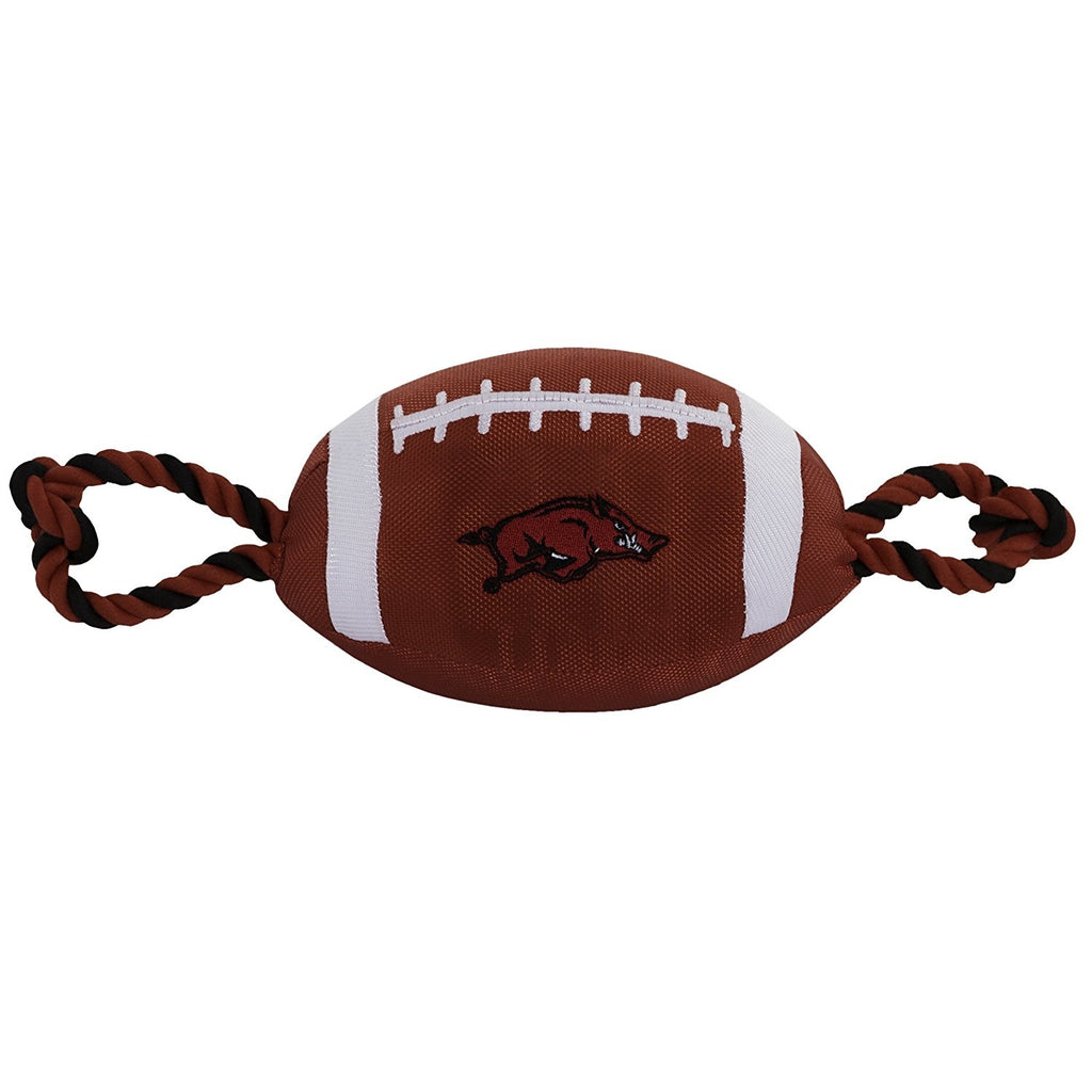 Arkansas Razorbacks Pet Dog Nylon Football Toy by Pets First