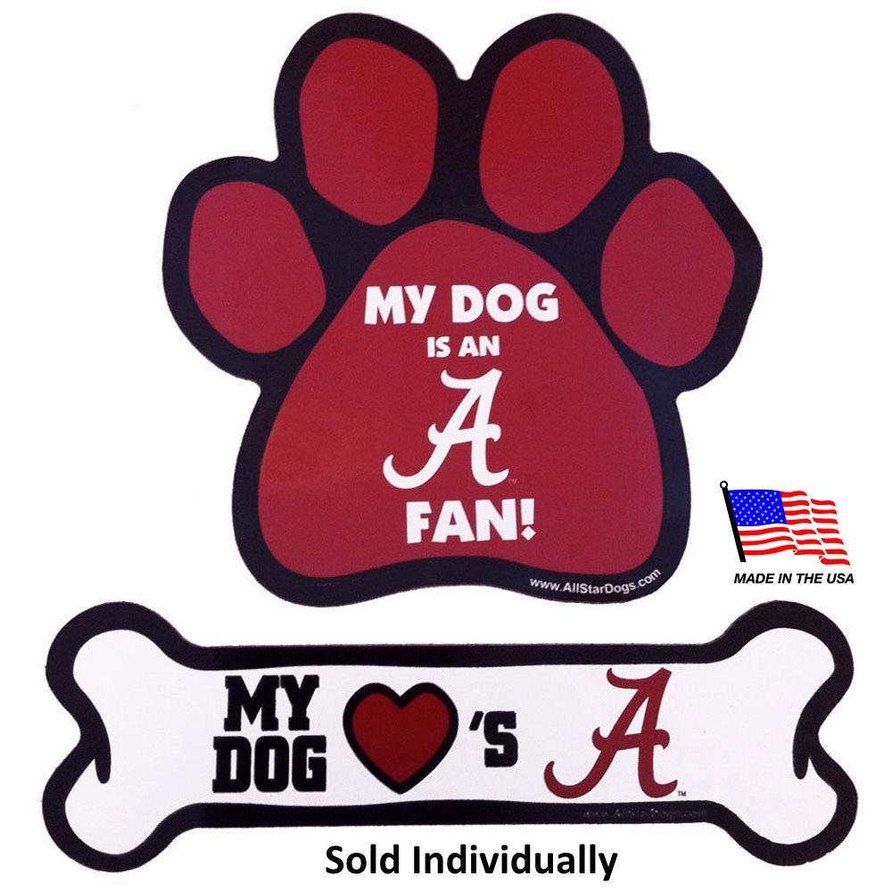 Alabama Crimson Tide NCAA Car Magnets Pet Dog by All Star Dogs