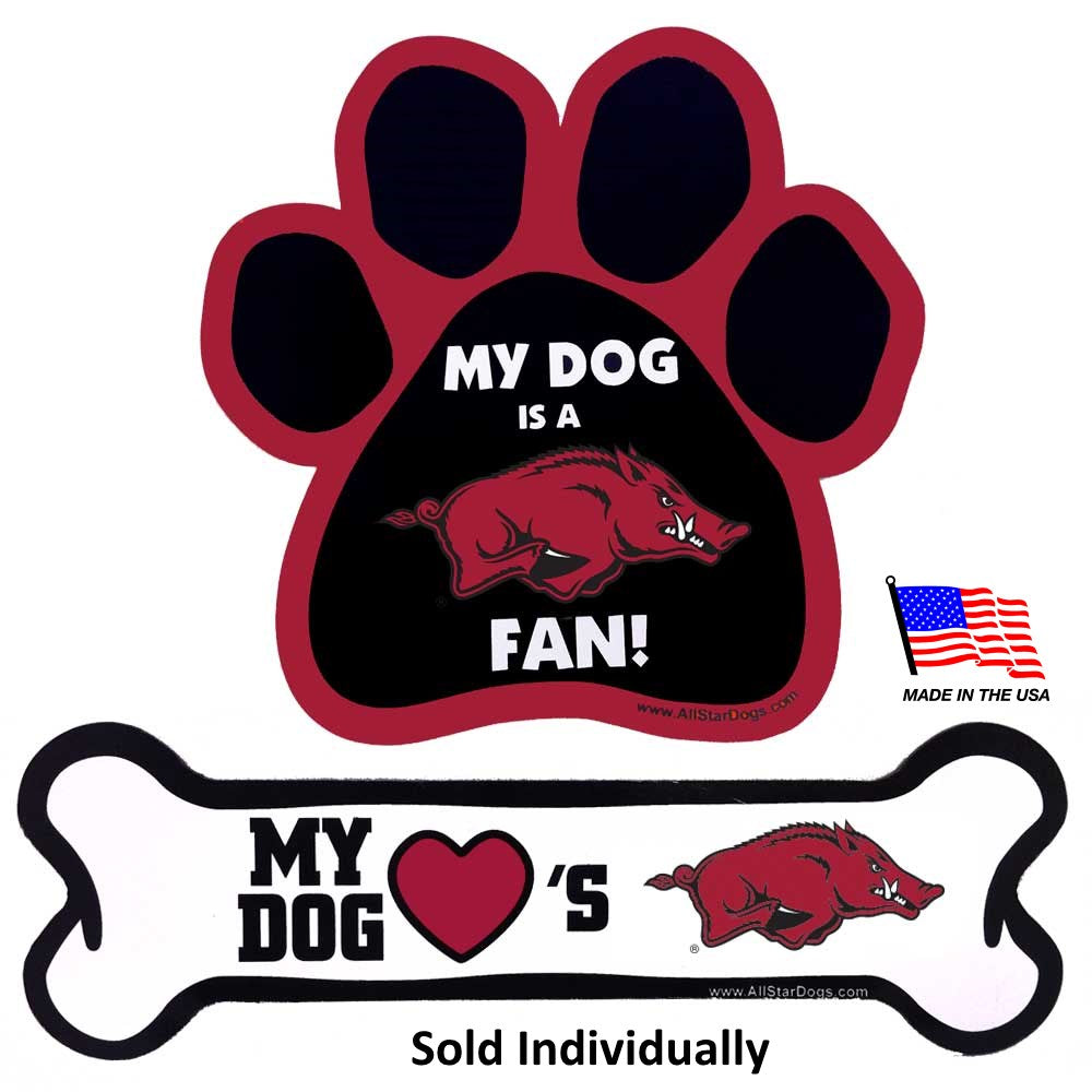 Arkansas Razorbacks NCAA Car Magnets Pet Dog by All Star Dogs