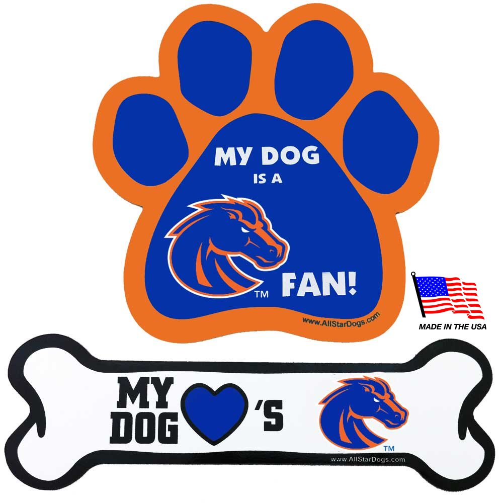 Boise State Broncos NCAA Car Magnets Pet Dog by All Star Dogs